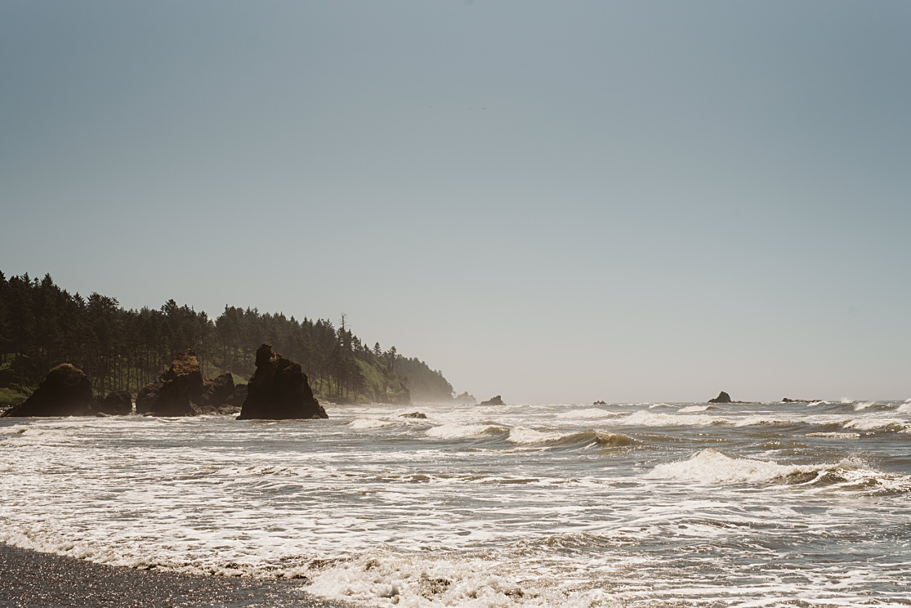 Olympic National Park Print, Travel Guide, Ruby Beach