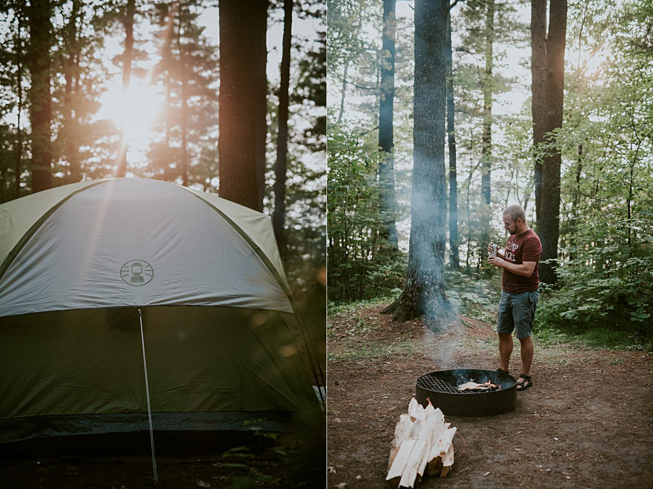 Northern Wisconsin Camping, Coleman Tent