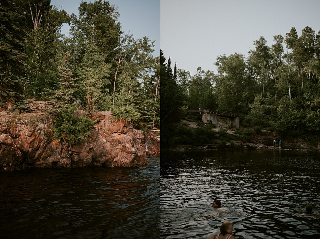 Swimming in Lake Superior, Boundary Waters Camping, North Shore Minnesota Camping