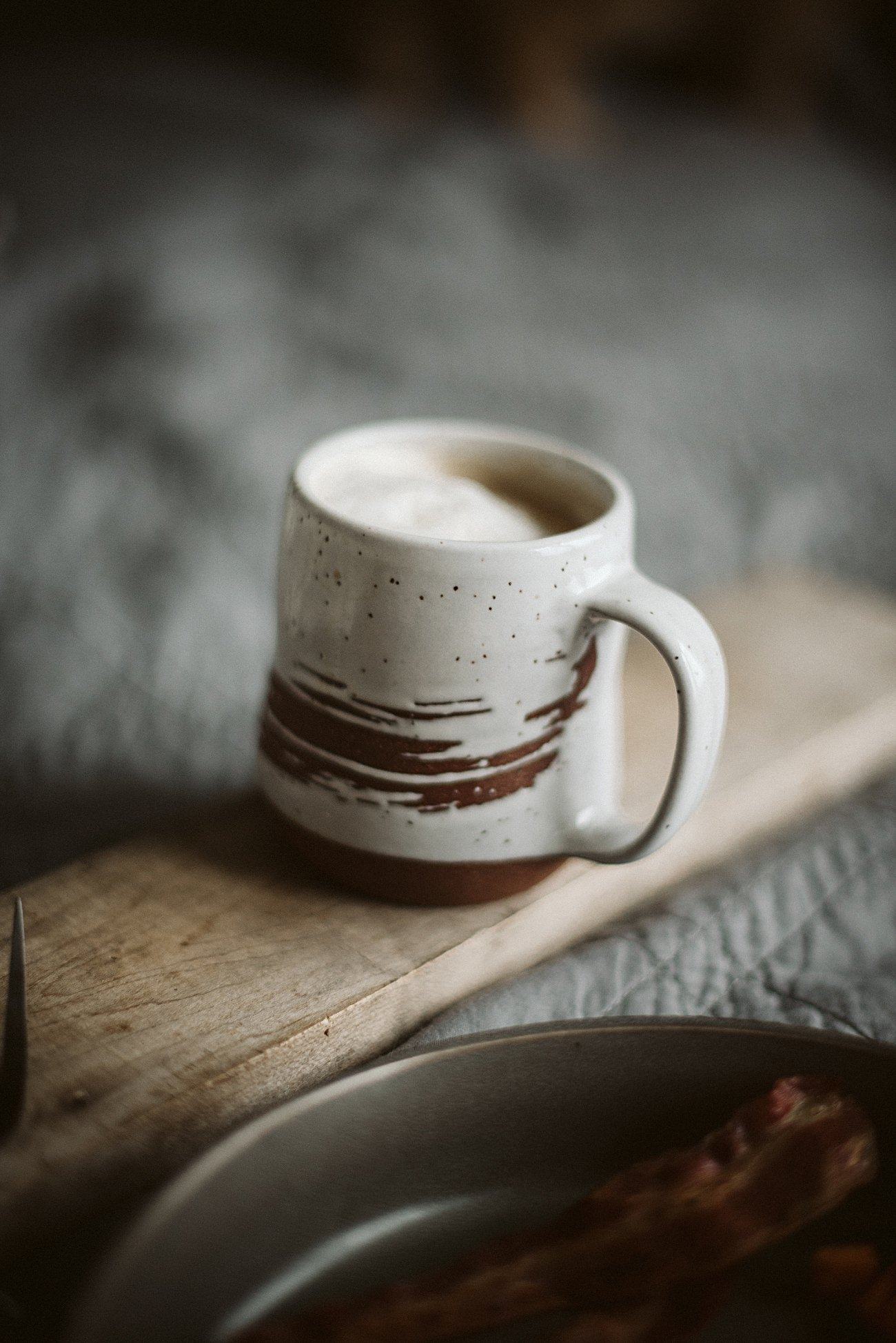 Homemade vanilla Latte with Honey Milk, Food Styling
