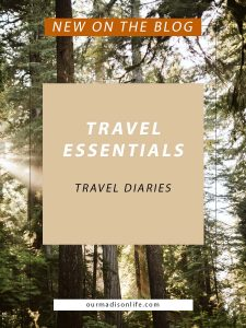 Lake Effect Co Stickers, Travel Diary, Instax Camera, Instant Camera, fujifilm instax mini 90 neo classic, international travel must haves, things to bring on a long flight