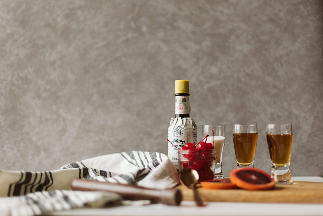 best old fashioned recipe, old fashioned ingredients, Best Old Fashioned Ever, Branding Photographer, Product Photography, Madison WI, Our Madison Life, Natural Intuition Photography