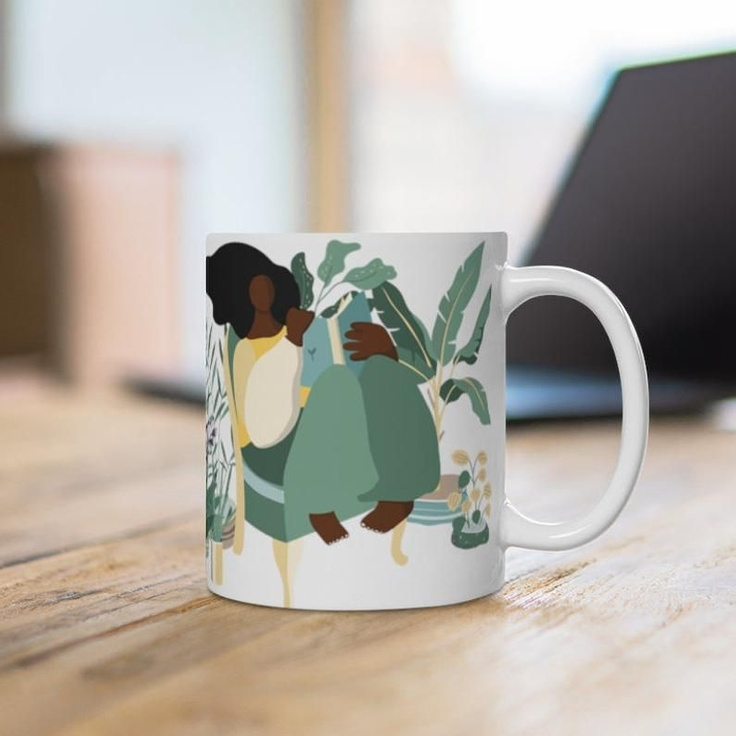 Coffee mug for the plant lady in your family