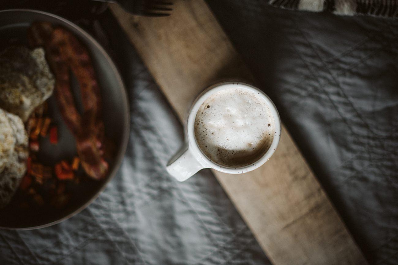 Homemade vanilla Latte with Honey Milk
